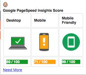 Google page speed web sitesinin mobil ve masaüstü hızını ölçer